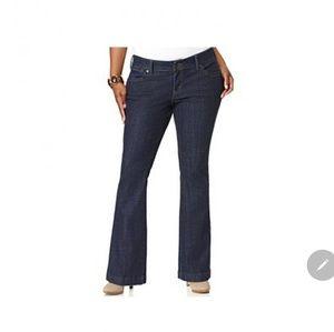 Plus size 24w Levi's flare 542 jeans
